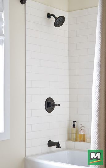 Redefine Your Shower Space With A Delta® Porter® Tub And Shower Faucet.  Along