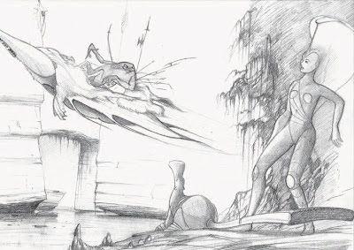 Bonjour, c'est FibreTigre: Prototypes étonnants d'Arkana des Mondes Engloutis, et quelques mots sur les illustrations SF