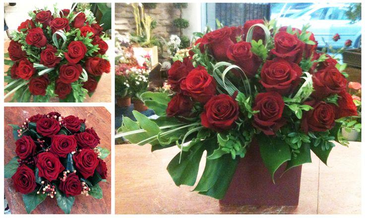 Red Flowers Arrangements for Christmas. Christmas Red Roses Centerpiece. Centrotavola Natale 2016. Decorazioni Natalizie Roma: www.laflorealedistefania.it #fioristaroma #decorazioninatale #laflorealedistefania #fattoamano #handmade #christamsdecorations #christmaswreath #christmas2016 #xmas2016 #homedecor #florist #flowerarrangements