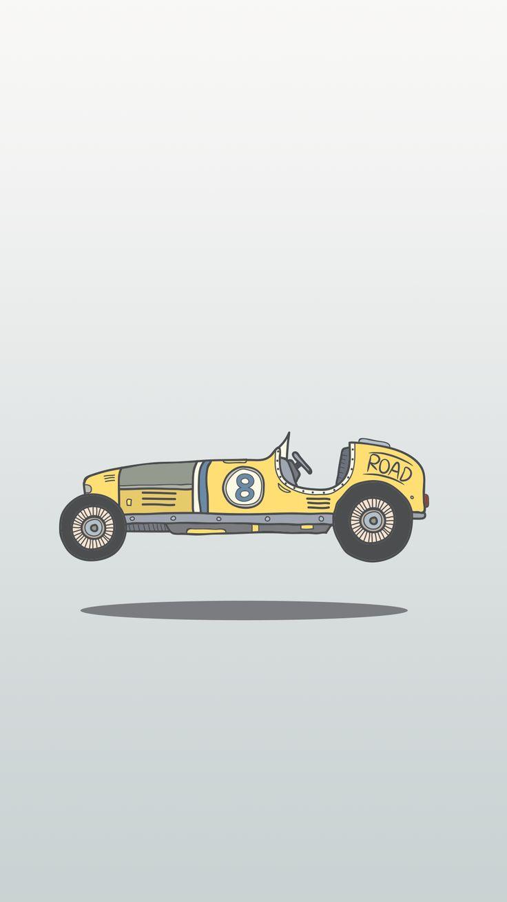 Minimal iPhone wallpaper vintage race car Iphone