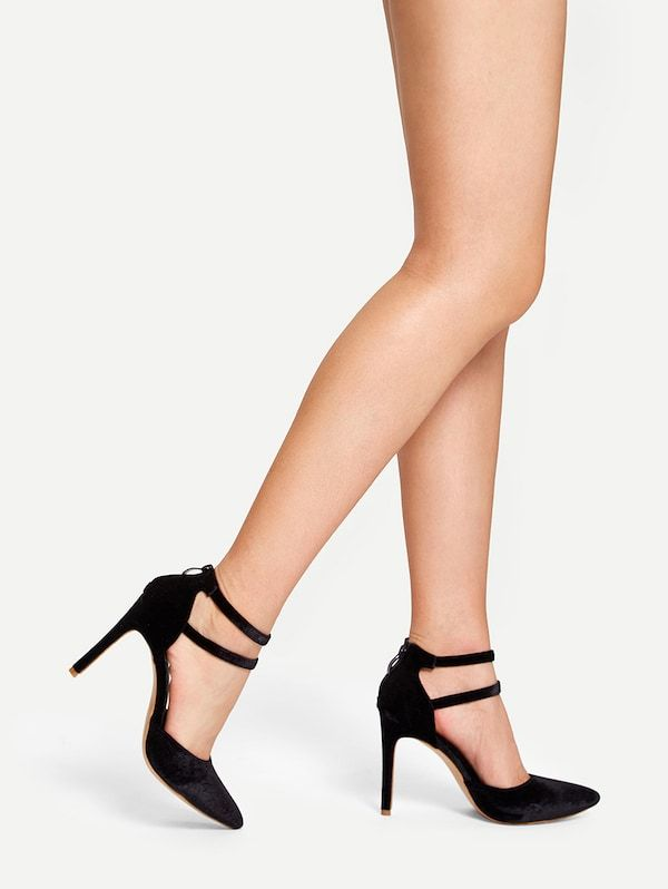 3dfe0fae2cec Double Ankle Strap High Heels