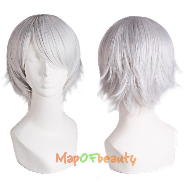 MapofBeauty Curta Reta preto Branco roxo vermelho laranja Marrom 26 Cores 30 CM cosplay perucas Resistentes Ao Calor peruca de cabelo Sintético