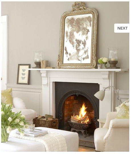 A beautiful open fireplace