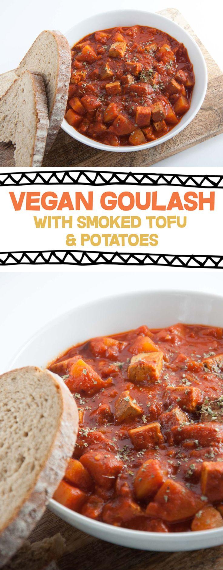 Vegan Goulash with Smoked Tofu and Potatoes #vegan #goulash #autumn #fall #stew| ElephantasticVegan.com
