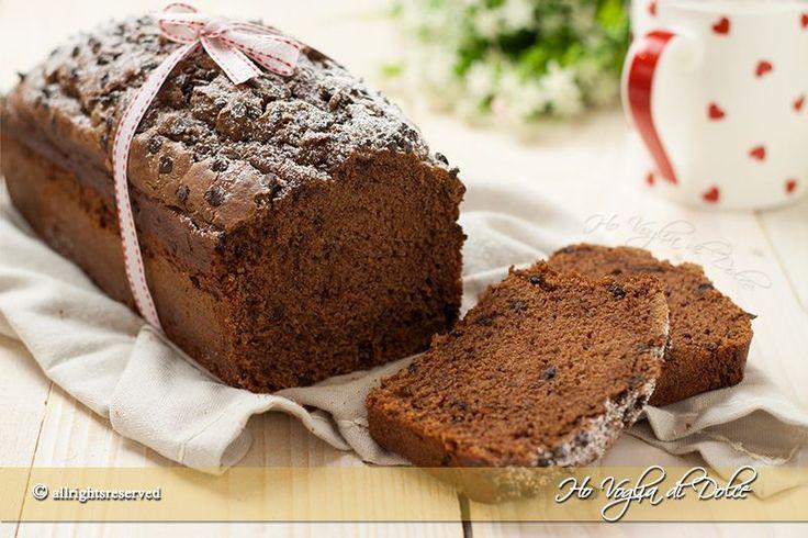 Plumcake+soffice+ricotta+e+cioccolato