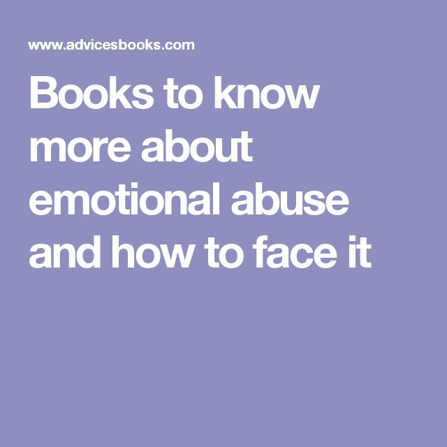 Books to know more about emotional abuse and how to face it