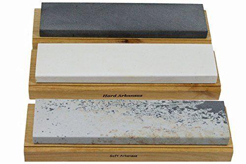 "Arkansas Sharpening Stone Set - Wood Mounted 8"" Best Sharpening Stones http://www.amazon.com/dp/B00Y75X07Y/ref=cm_sw_r_pi_dp_rwZ5vb0C0EK84"