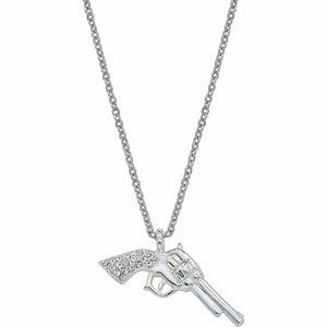 Montana Silversmiths Silver Pistol/Gun necklace with rhinestones, $36.99 -- cute gift for a country girl!