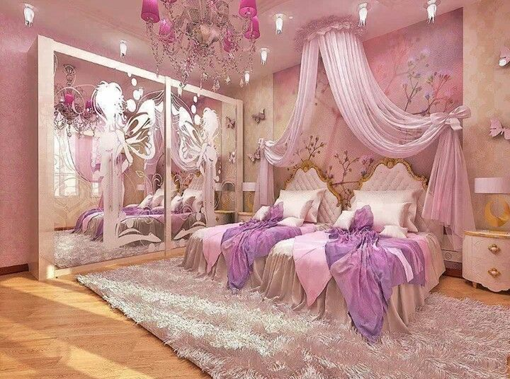 Girls Princess Bedroom 137 best girls bedrooms images on pinterest | home, bedroom ideas