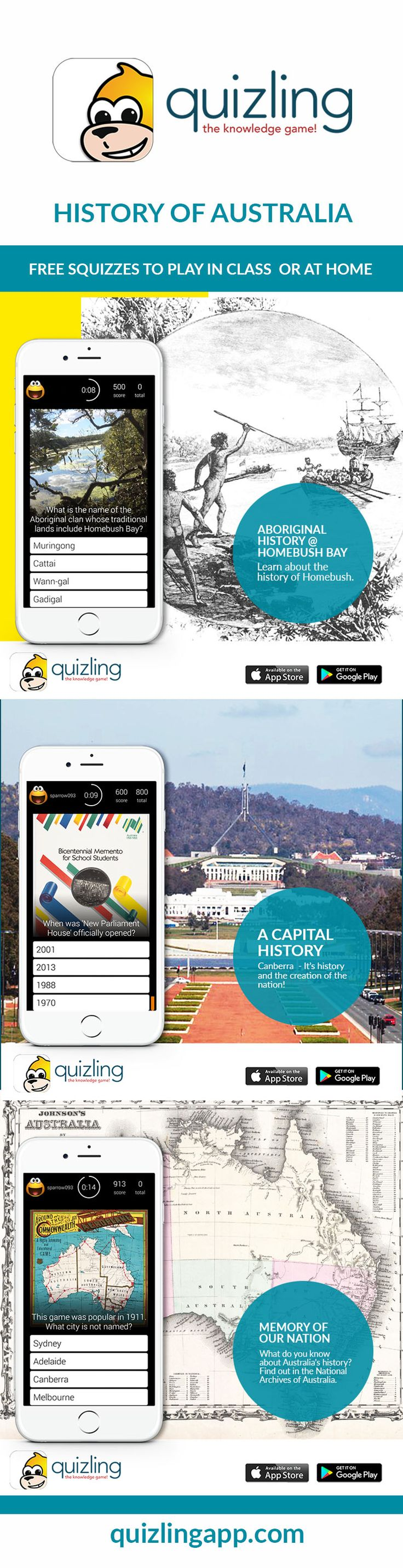 Australia History  free quiz resources for teachers and parents!