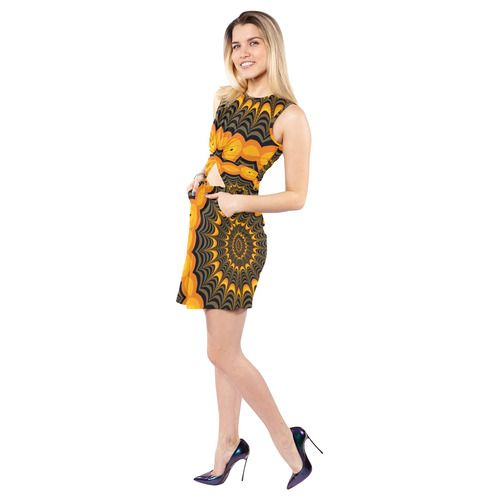 Sleeveless Cutout Waist Knotted Dress by Natalia Bykova on Artsadd. #dress, #Artsadd, #Hаlloween, #fractaldesign, #spiderweb, #halloweendress