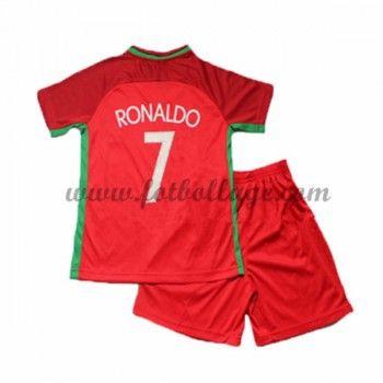 Portugal Barn Landslagströja 2016 Cristiano Ronaldo 7 Hemma Matchtröja