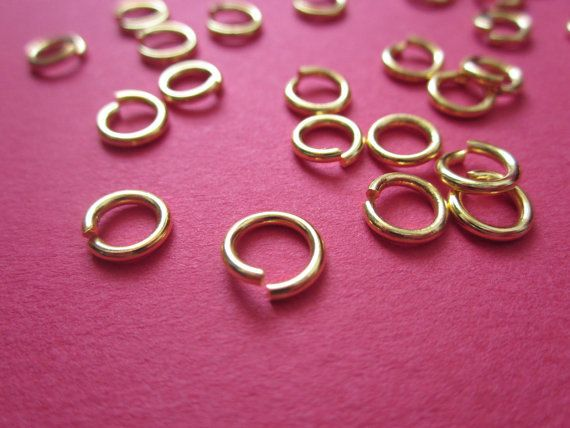 7mm Bold Jump #Ring Gold plated 22ga http://etsy.me/1DIetqq #jewelry #mount #brass #jewel #gem #bezel #setting #goldplated #gold #24k