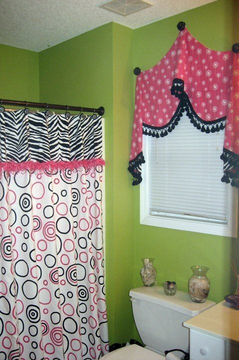 Pick up valance with fringe and a fun shower curtain for a fantastic teen  girl's bath - 94 Best Shower Curtains Images On Pinterest