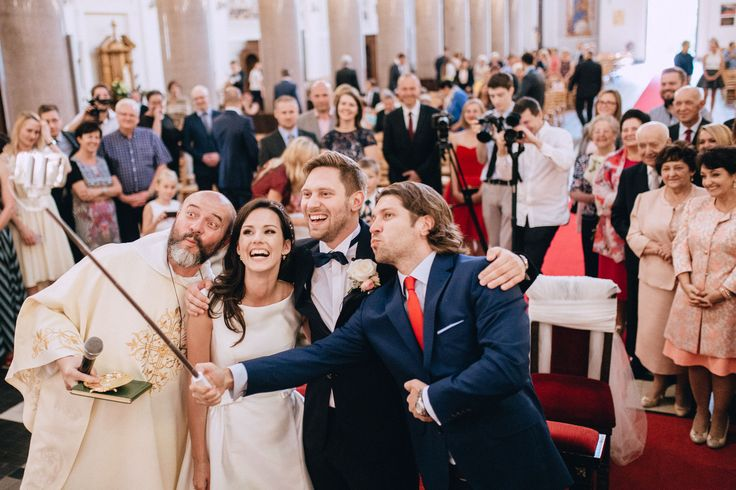 Wedding Studio Słoń: #wedding #realwedding #warsaw #polandwedding #bride #groom #church #father #couple