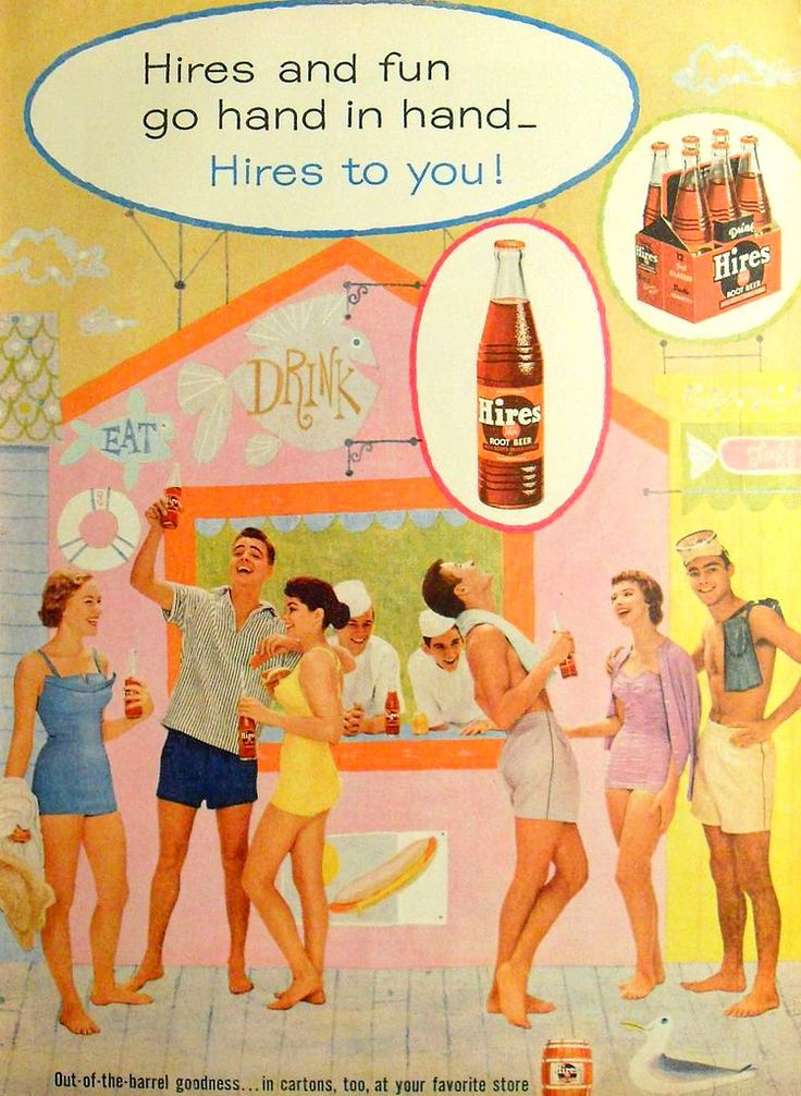 https://flic.kr/p/7eetDZ   1960s Hires Root Beer VINTAGE ILLUSTRATION ADVERTISEMENT Men Women SWIM TRUNKS Swim SUITS Shirtless   from my vintage magazine collection  www.ajaxallpurpose.blogspot.com/  www.facebook.com/christian.montone/