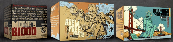 You owe it to yourself to try the Brew Free or Die IPA from 21st Amendment.  This is some seriously flavorful, hoppy, malty beer.  As is often the case, you cannot find it in Iowa but the brewers have told me they hear my cries and are coming!  Make sure you get it if you see it.