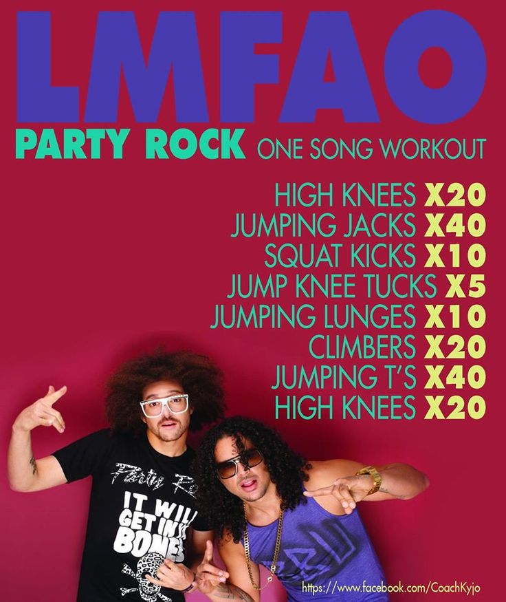 LMFAO - Party Rock - One song Workout   https://www.facebook.com/CoachKyjo