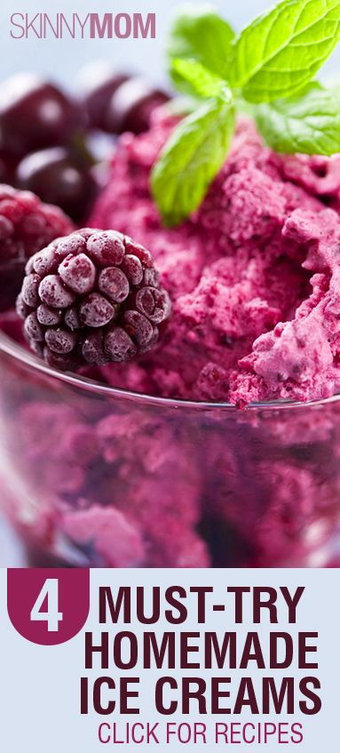 Nothing is better than homemade ice cream! Try out these 4 options here!