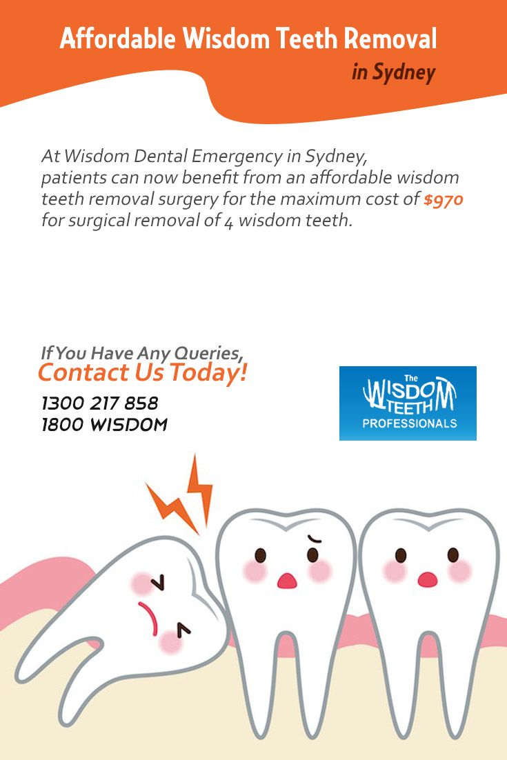 At Wisdom Dental Emergency in Sydney, patients can now benefit from an affordable #wisdom_teeth_removal surgery for the maximum cost of $970 for surgical removal of 4 wisdom teeth