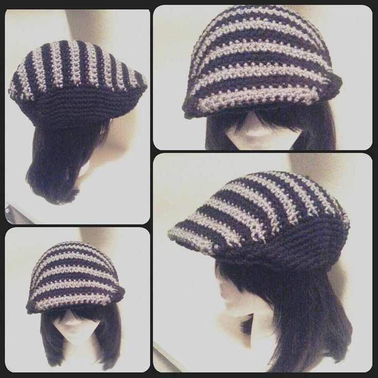 Black and Grey Heather Kango Hat (Crochango)   Visit www.impressivedesigns.etsy.com to purchase.
