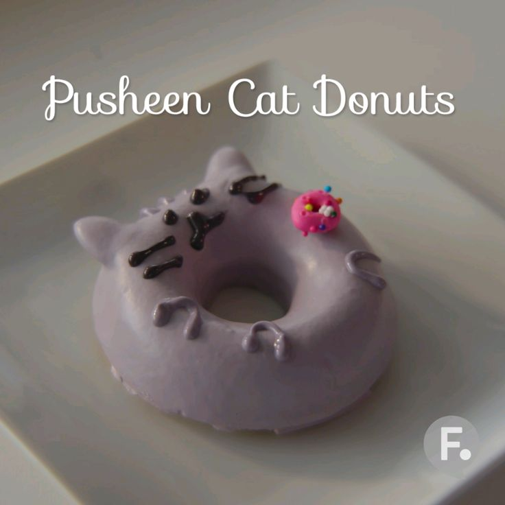 Pop Culture Baking: Pusheen Donuts