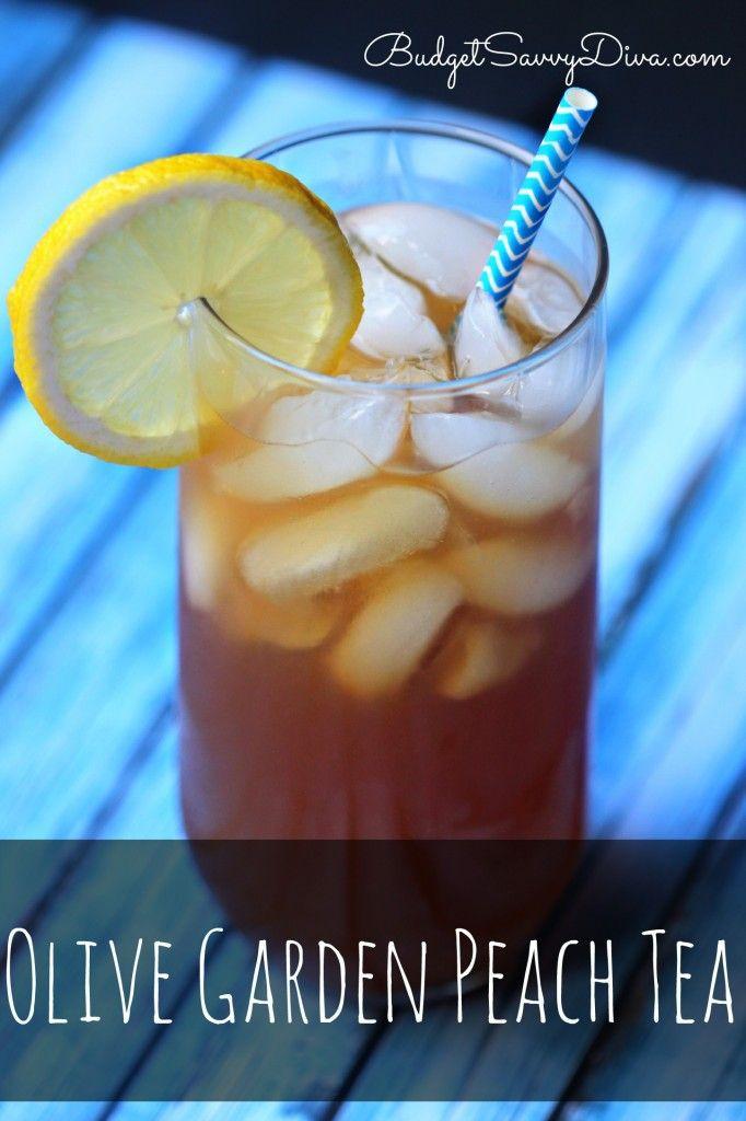 Olive Garden Peach Tea Recipe Just add 11 oz. can peach nectar to 2 qts. tea plus 3/4 c. sugar or sweetener.