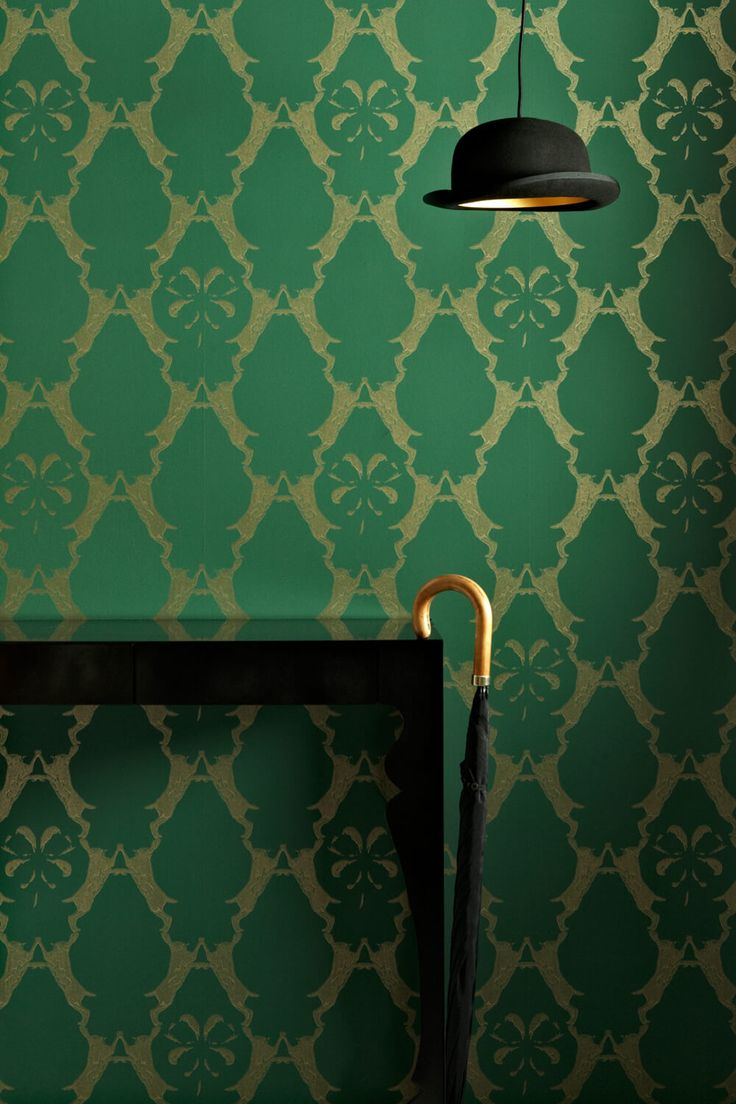 Maybe not your traditional highland hunting lodge wallpaper but fun all the way. I also love the old timey hat lamp. Boxing Hares - Barneby Gates