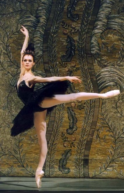 Prima ballerina Ulyana Lopatkina of the Mariinsky Ballet as Odile in Swan Lake.