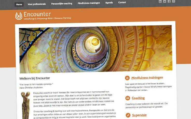 Huisstijl, website, e-mail nieuwsbrieven, flyers en advertenties voor www.encountertrainingen.nl