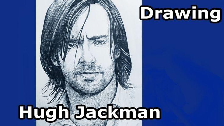 Drawing Hugh Jackman. Люди Икс