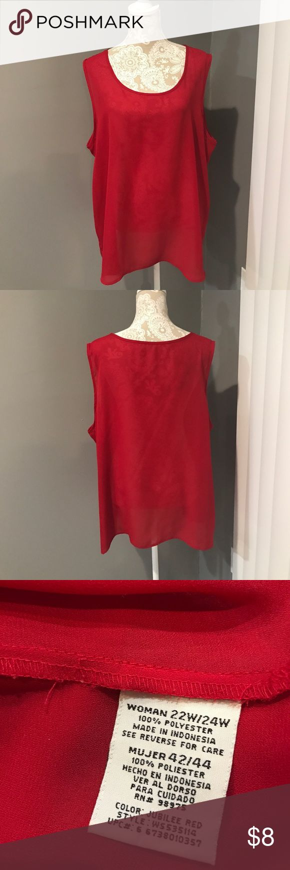 RED Cami/Top 22/24 RED Cami/Top 22W/24W. Description size says 24W Tops Camisoles