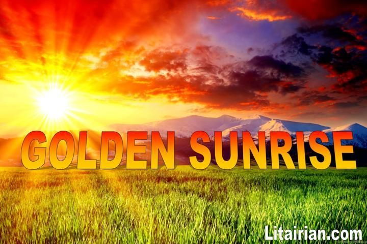 GOLDEN SUNRISE Image is attuned with switchword GOLDEN SUNRISE & Cosmic Energies by Sharat Sir.Place this Image at your Premises and Witness the Magic.