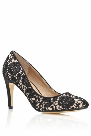 Lace Mid Heel Courts from the Next UK online shop (not available anymore but love the pic)