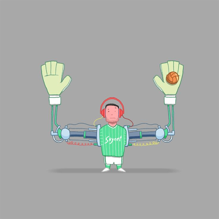 The Robo-Goalie was part of the 'Robotics Scandal' that arose when Skynet sponsored a football team. Performance enhancing robotics were rife throughout the sport until eagle eyed observers started to notice the enhancments. The technology became sentient and enslaved humanity for 3 matches but Skynet FC was knocked out of the cup and things just kind of died down.