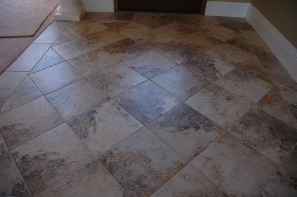Front entry way tile to carpet for Foyer tile patterns