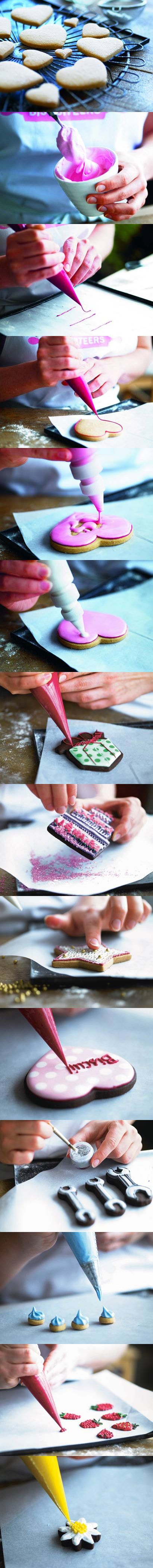How to ice biscuits. Learn how to using different icing techniques to ice biscuits and cakes with our step-by-step guide