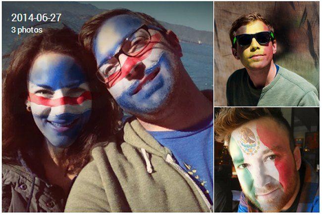 Google+ pinta tu cara con los colores de la bandera de tu equipo favorito en el Mundial de Fútbol!