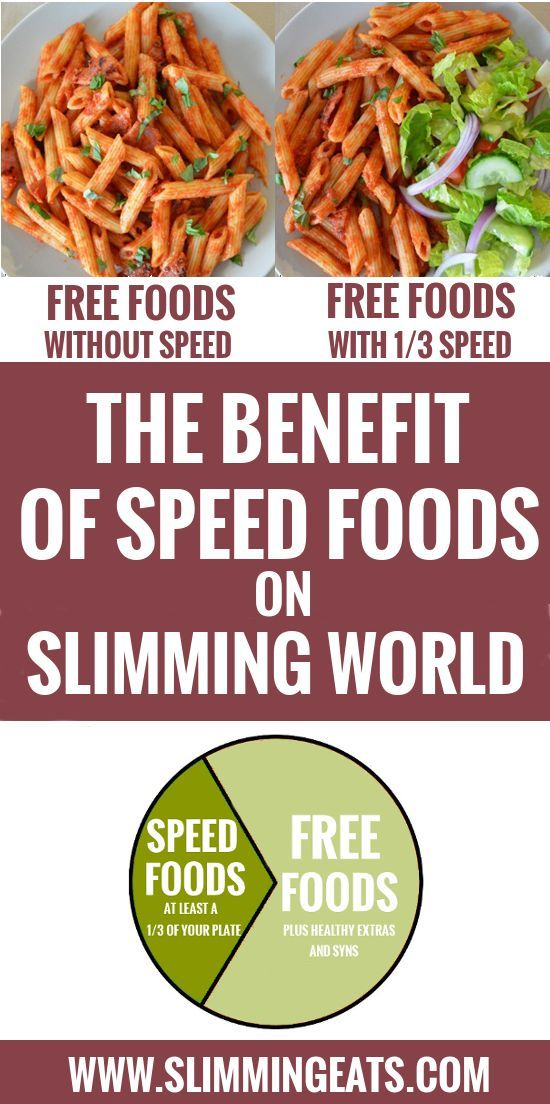 Slimming Eats - The benefit of speed foods - Clear explanation of the Benefits of Speed foods on Slimming World