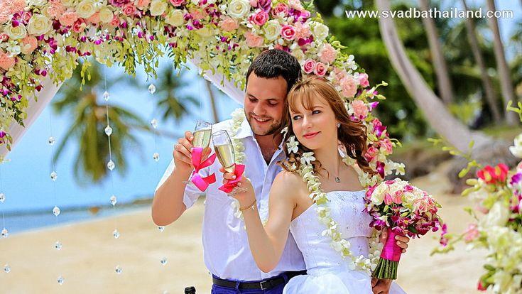 свадьба в Тайланде, фотограф в Тайланде, свадьба Самуи, европейская символическая свадебная церемония на пляже Тайланда Самуи