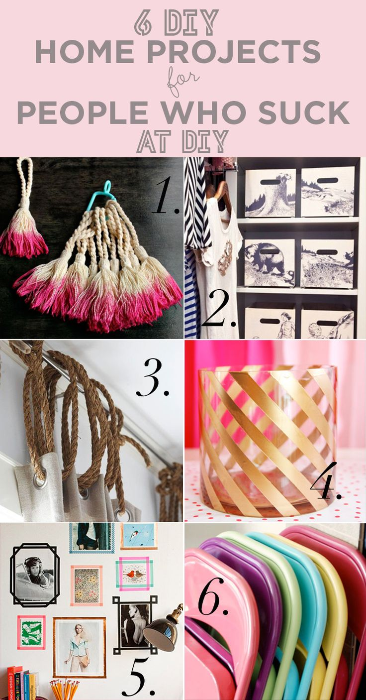 #DIY 6 Easy DIY Home Decor Projects for People Who Suck At DIY - VINTAGEDESIGN.ME