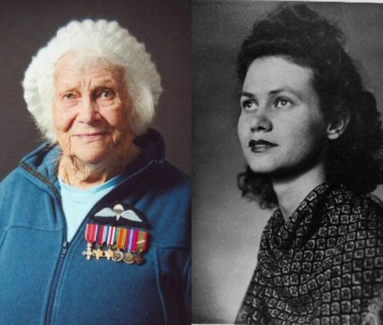 """Phyllis Latour Doyle From """"A Mighty Girl"""" on Facebook:  At age 23, British secret agent Phyllis Latour Doyle parachuted into occupied Normandy in May 1944 to gather intelligence on Nazi positions in preparation for D-Day. As an agent for the British Special Operations Executive (SOE), Doyle secretly relayed 135 coded messages to the British military before France's liberation in August. For seventy years, her contributions to the war effort have been largely unheralded b"""