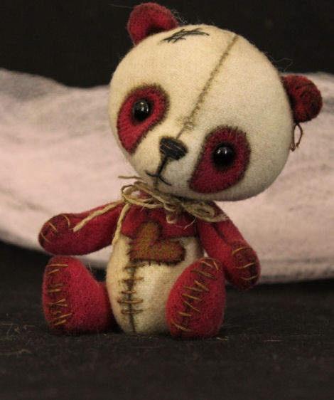 Raspberry Panda by By Tickled Pink Bears/Kelly Jo | Bear Pile