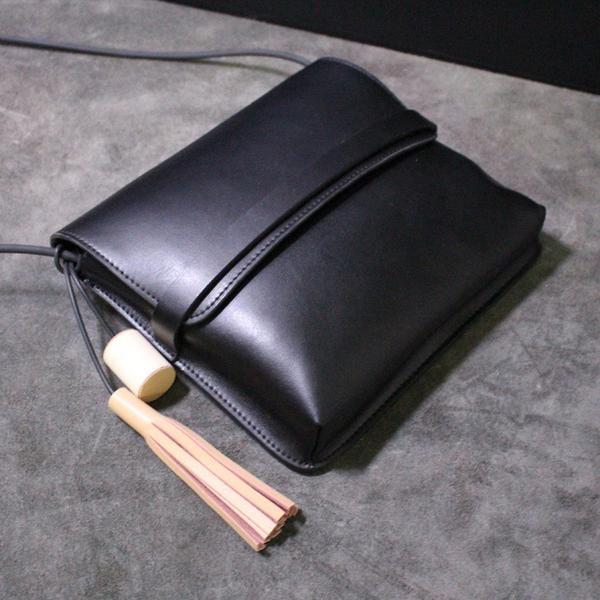 Handmade leather shoulder bag messenger bag small satchel 14069 - LISABAG - 1