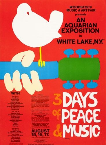 Henry Sotheran's  SKOLNICK, Arnold. Woodstock Music & Art Fair presents An Aquarian Exposition in White Lake, NY. 3 Days of Peace & Music.1969. 620 x 460 mm.
