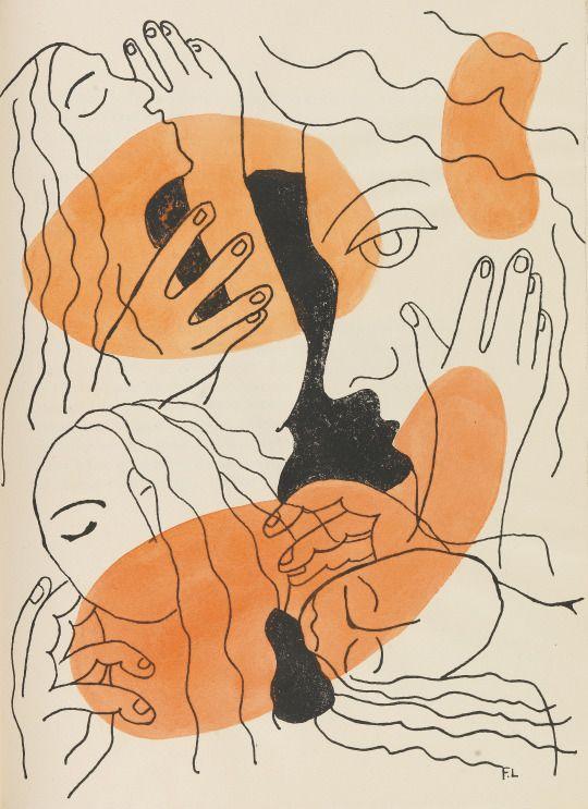 ARTHUR RIMBAUD  Les illuminations. 1949  lithographs by F. Léger