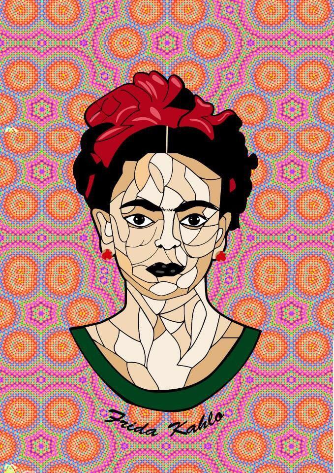 Portrait practice\ Frida Kahlo