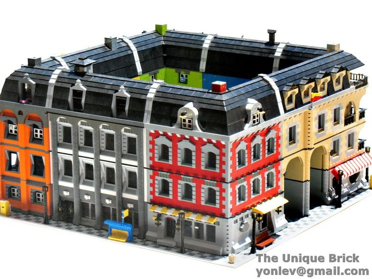 Lego Custom Huge Building Block PDF Instructions Manual City Town Corner Hall | eBay