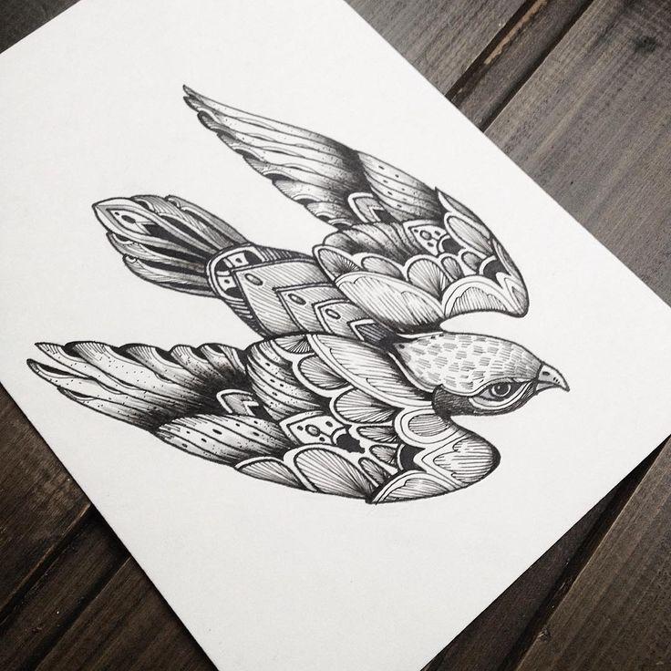 Свободный эскиз. От 14см. #эскиз #спб #эскизтату #графика #рисунок #скетч #птица #тату #мариявелик #зима #чб #tattoo #ink #sketch #zentangle #doodle #bird #birdtattoo @tattoopins @blackworkers @arts_help @insta_blackwork @art