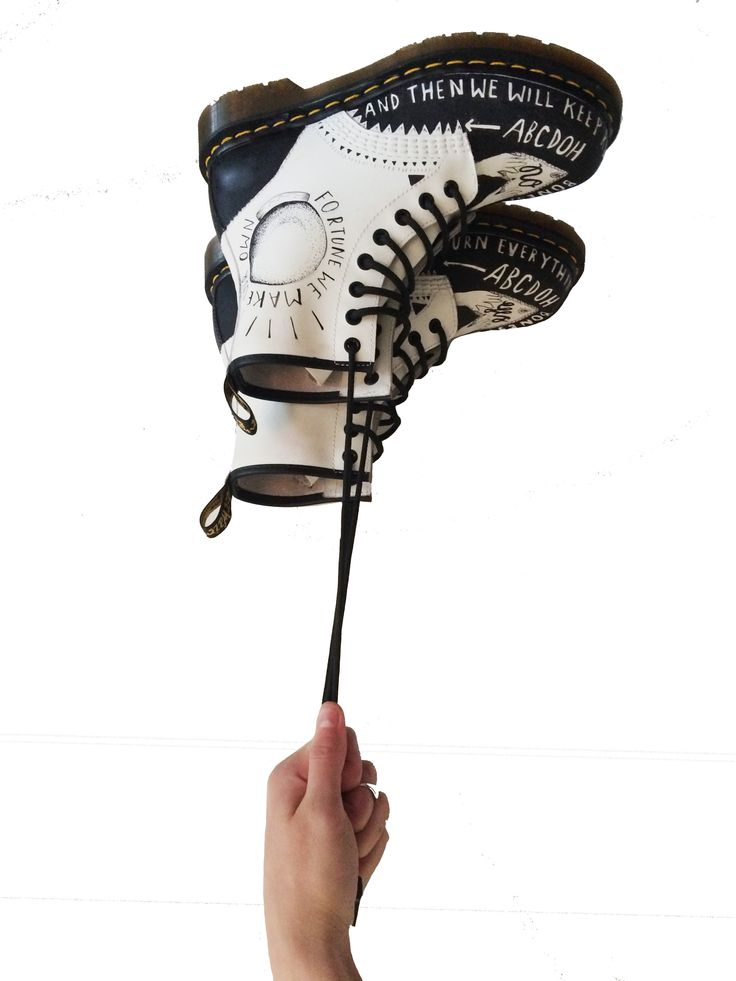 June: Dr. Martens Illustrator of the Month - Brit McInerney of Oh Bones, London customised a pair of 1460s